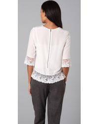 Gryphon - White Lace Top - Lyst