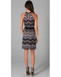 M Missoni | Gray Sleeveless Knit Dress | Lyst