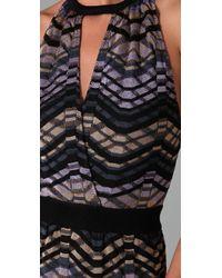 M Missoni - Gray Sleeveless Knit Dress - Lyst