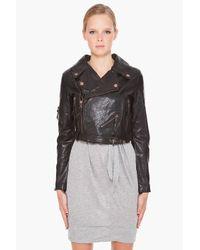 DIESEL | Black L-coyote Leather Jacket | Lyst