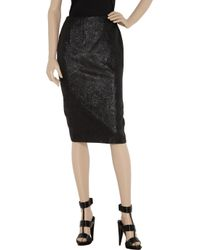 Alexander McQueen - Black Quilted Chenille Mini Skirt - Lyst