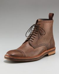 Lanvin | Brown Cap-toe Boot for Men | Lyst