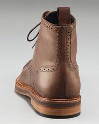 Lanvin - Brown Cap-toe Boot for Men - Lyst