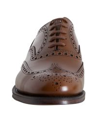 Church's - Brown Leather Burwood Wingtip Oxfords for Men - Lyst