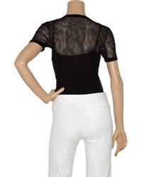 Dolce & Gabbana - Black Sheer Cotton Mesh Top - Lyst