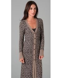 Free People - Gray Kitty To The Max Cardigan - Lyst