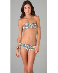 Tibi - Blue Marble Swirl Bikini Bottoms - Lyst