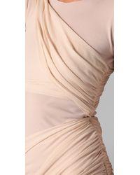 Alice + Olivia | Natural Long Sleeve Goddess Dress | Lyst