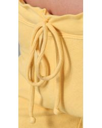 Juicy Couture - Yellow Old School Breezy French Terry Slim Leg Sweat Pant - Lyst