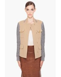 3.1 Phillip Lim - Natural Cable Knit Military Jacket - Lyst