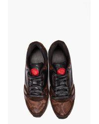 DIESEL | Brown Absolute Sneakers for Men | Lyst