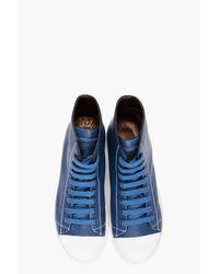 Marc Jacobs - Blue Parker High Cut Sneakers for Men - Lyst