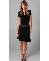 Lacoste | Black The Pointelle Polo Dress | Lyst