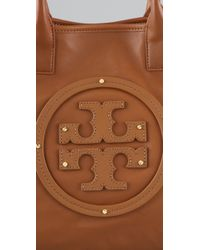 Tory Burch - Brown Stacked Logo Summer Tote - Lyst
