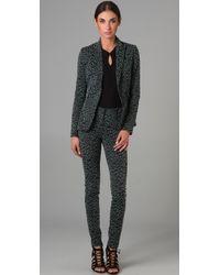 Zac Posen | Green Leopard Blazer | Lyst