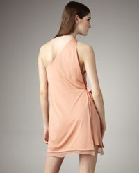 3.1 Phillip Lim - Orange One-shoulder Layered Dress - Lyst