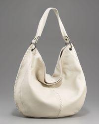 Bottega Veneta | White Woven-detail Hobo, Large | Lyst