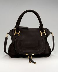 Chloé - Brown 'medium Marcie' Leather Satchel - Lyst