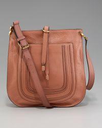 Chloé | Brown Marcie Crossbody Bag | Lyst