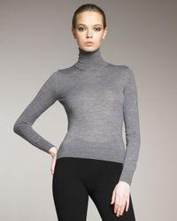 Dolce & Gabbana | Gray Knit Turtleneck | Lyst