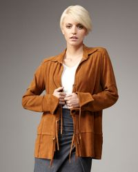 Elizabeth and James | Brown Newman Suede Jacket | Lyst