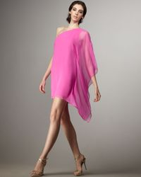 Jay Godfrey | Pink Santorini Cape-sleeve Dress | Lyst
