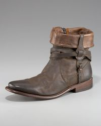 John Varvatos | Brown Ago Convertible Side Zip Boot for Men | Lyst