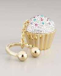 Judith Leiber | Metallic Cupcake Key Chain | Lyst