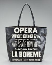 kate spade new york | Black Bon Opera Shopper | Lyst