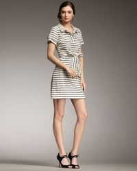 kate spade new york | Natural Dana Striped Tie-waist Dress | Lyst