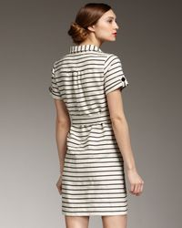kate spade new york - Natural Dana Striped Tie-waist Dress - Lyst