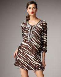 kate spade new york | Multicolor Gwen Zebra Tunic | Lyst