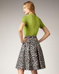 kate spade new york | Black Lillith Leopard-print Skirt | Lyst