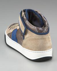 Lanvin - Gray Python Sneaker for Men - Lyst