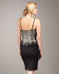 Mandalay | Black Beaded Bustier Lace Dress | Lyst