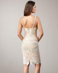 Mandalay - Natural V-neck Lace Dress - Lyst