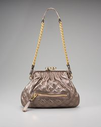 Marc Jacobs | Little Metallic Stam Satchel | Lyst