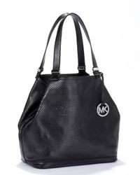 MICHAEL Michael Kors | Black Medium Camille Satchel | Lyst