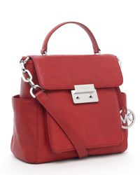 MICHAEL Michael Kors | Sloan Large Tote, Red | Lyst