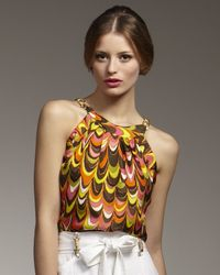 MILLY - Multicolor Dare Chain Halter Top - Lyst