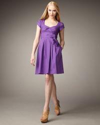 Nanette Lepore | Purple Jazz Band Pleat-detail Dress | Lyst