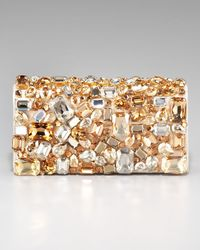 Prada | Metallic Swarovski Crystal Stone Clutch | Lyst