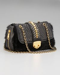 Prada | Black Napa Borchie Studded Lambskin Chain Bag | Lyst