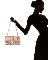 Prada | Natural Napa Gaufre Chain Shoulder Bag | Lyst