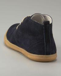 Prada - Blue Suede Chukka Boot for Men - Lyst