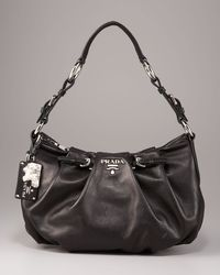 Prada - Brown Soft Calfskin Shoulder Bag - Lyst