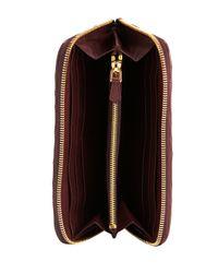 Prada - Red Napa Gaufre Zip-around Wallet - Lyst