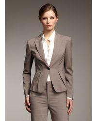 Rachel Roy | Natural Pleated Blazer | Lyst