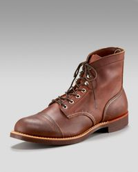 Red Wing - Brown Iron Ranger Boot, Amber Harness for Men - Lyst