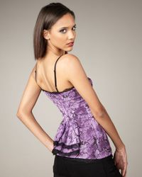 Royal Underground | Purple Snake-print Bustier Top | Lyst